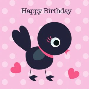 Happy Birthday Card - Bird